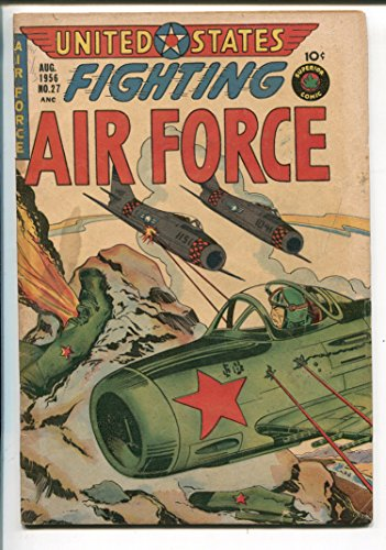 1956 Panel - UNITED STATES FIGHTING AIR FORCE #27-1956-ATOM BOMB EXPLOSION PANEL-RARE-vg