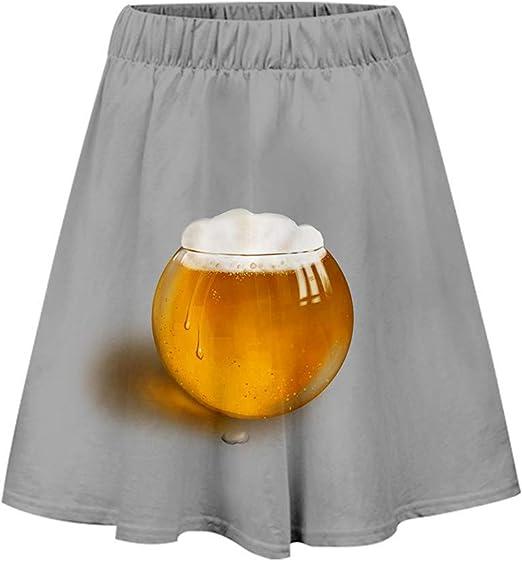 Falda para mujer, falda plisada, falda de campana, falda básica ...