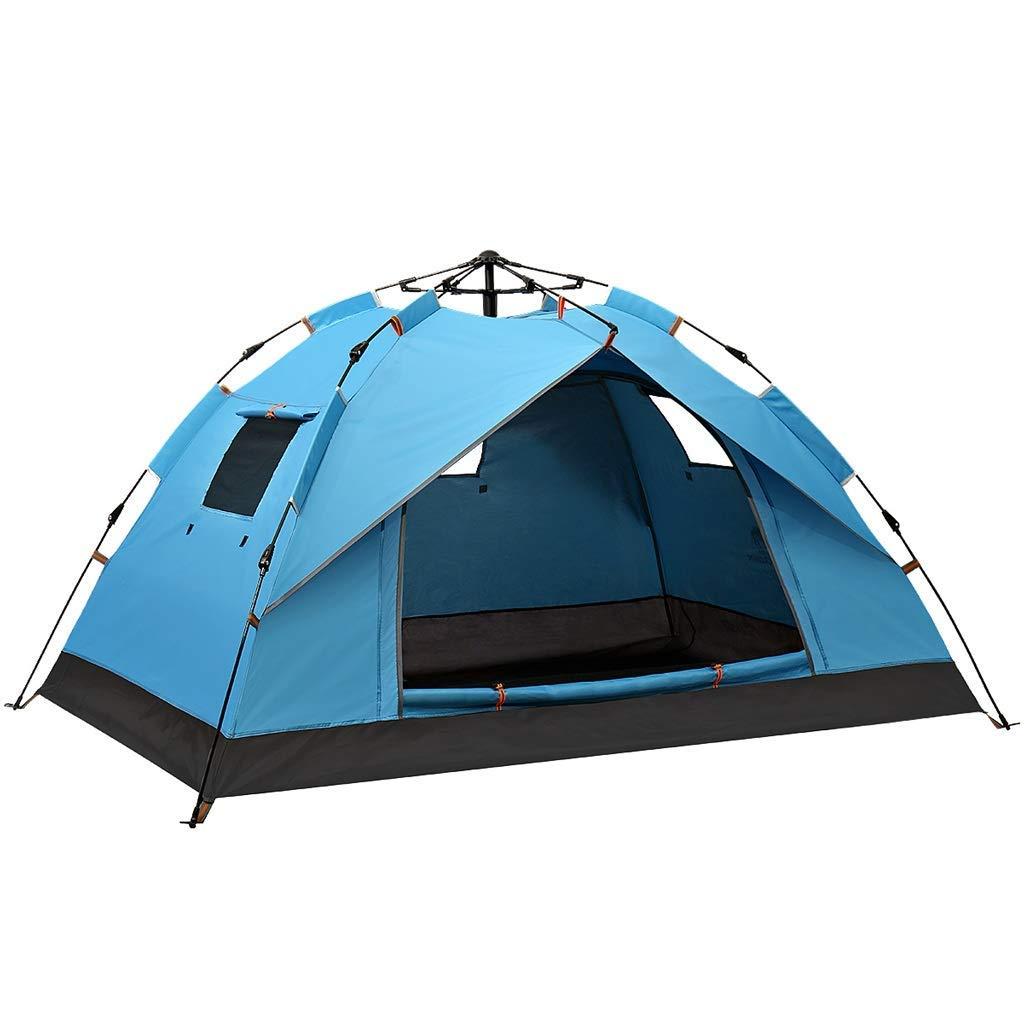 絶対一番安い 自動油圧ポップアップテント家族テント屋外2-3人ライトドームテント3色 (色 : (色 : 青) 青 青) B07P3KPJQP, ドッグカフェハーズ:1a472e51 --- ciadaterra.com