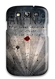 Galaxy S3 Case Cover - Slim Fit Tpu Protector Shock Absorbent Case (death Note)