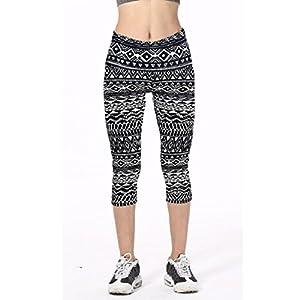 Lookatool Women's High Waist Fitness Yoga Sport Pants (L, Black 2)