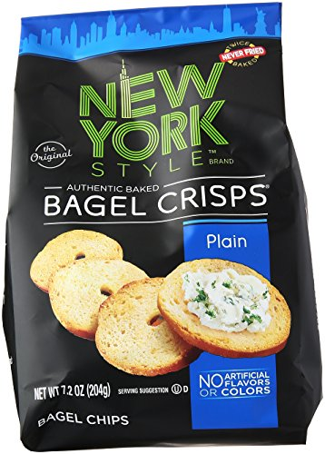 New York Style Bagel Crisps, Plain, 7.2 oz