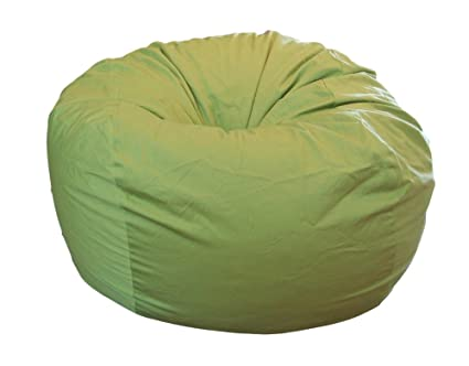Outstanding Ahh Products Lime Organic Cotton Large Bean Bag Chair Andrewgaddart Wooden Chair Designs For Living Room Andrewgaddartcom