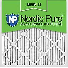 Nordic Pure 20x20x1M13-12 20x20x1 MERV 13 Pleated AC Furnace Air Filter, Box of 12, 1-Inch