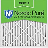 Nordic Pure 14x14x1 MERV 13 Pleated AC Furnace Air Filters, 6 Pack 14x14x1M13-6