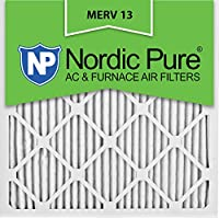 Nordic Pure 18x18x1M13-12 18x18x1 MERV 13 Pleated AC Furnace Air Filter, Box of 12, 1-Inch