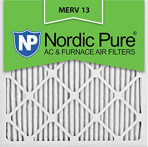 Nordic Pure 24x24x1M13-6 24x24x1 MERV 13 Pleated AC Furnace Air Filter, Box of 6, 1-Inch