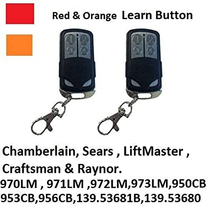 2 For Sears Craftsman 139.53681B Garage Door Opener Remote Keychain 139.53680