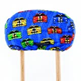 Crutch Caps Children Underarm Crutch Pads, Royal Bllue/Red/YellowithGreen/Black/White, Race Cars, Child/Small