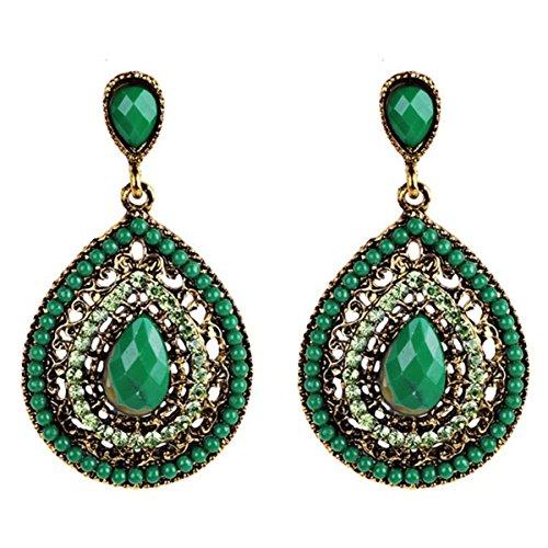 Bohemian Wind Full Of Water Droplets Earrings Ear Studs For Women Fashion Jewelry (2 Full Diamond)