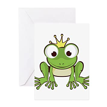 Amazon Com Cafepress Frog Prince Greeting Cards Greeting Card