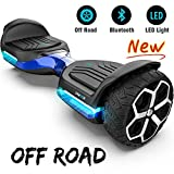 Gyroor T581 Hoverboard 6.5' Off Road All Terrain Hoverboard with Bluetooth Speaker and LED Lights Two-Wheel Self Balancing Hoverboard for Adult Kids Gift UL2272 Certified (Blue)