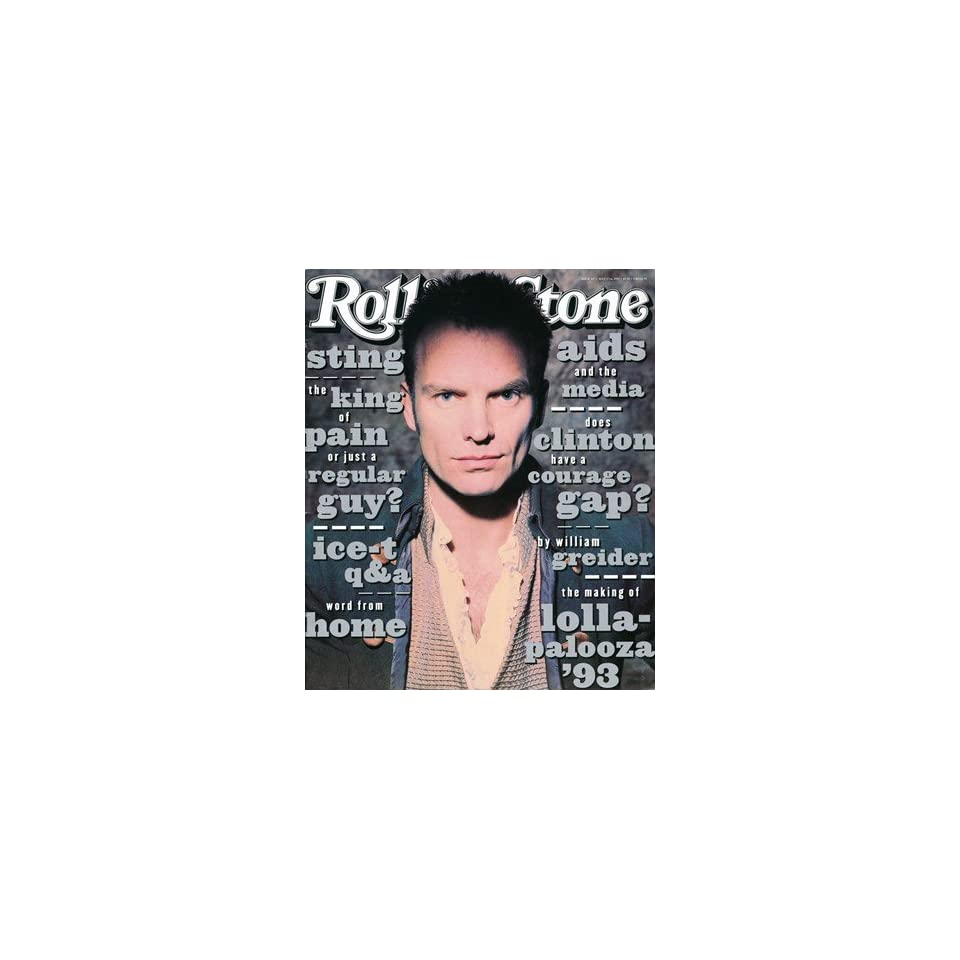 Sting, 1993 Rolling Stone Cover Poster by Andrew MacPherson (9.00 x 11.00)