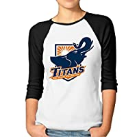 ElishaJ Women's Raglan Baseball T Shirt CSU California State Fullerton Black
