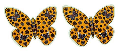 Handmade Butterfly Shape Turkish Ceramic Pottery Tile Trivet Set of 2 ()