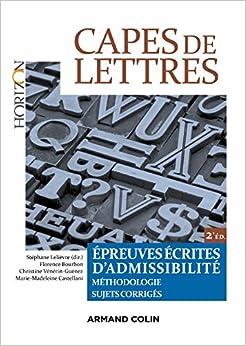CAPES de Lettres - Épreuves écrites dadmissibilité