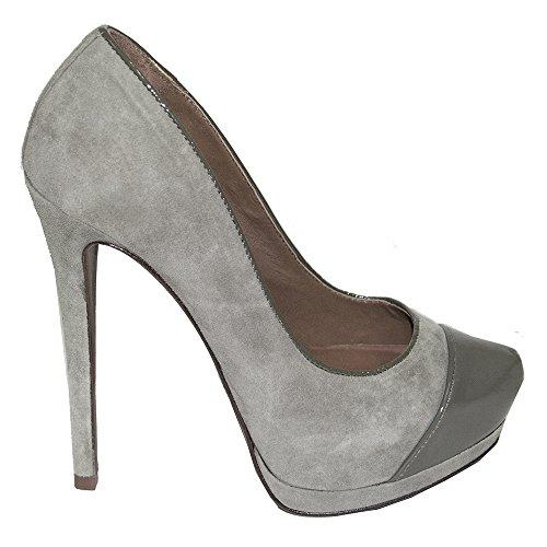 SCHUTZ Zapatos de vestir de ante para mujer Gris gris