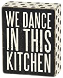 """Primitives by Kathy 25192 Polka Dot Trimmed Box Sign, 4"""" x 5"""", In This Kitchen"""