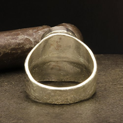 Mens Signet Coin Ring 925 Sterling Silver 24K Gold Vermeil Coin Handcrafted Hammered Two Tone Hand Forged Ancient Roman Byzantium Greek Art Artisan Ring
