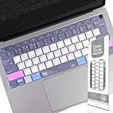 Premium Shortcut Keyboard Cover Protector for Apple MacBook Air 13-Inch 13.3' A1932 2018 Released, Ultra Thin Silicone Keyboard Skin with MAC OS Hot Keys, US Layout
