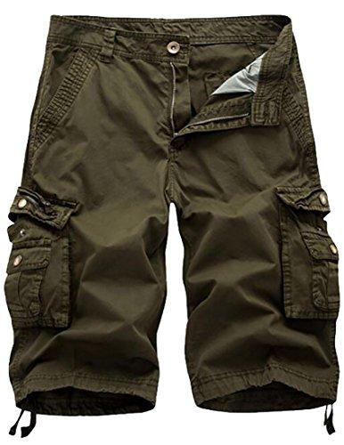 Wholesale Fulok Mens Regular Fit Lightweight Multi Pockets Twill Cargo Shorts for sale