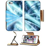 Luxlady Premium Apple iPhone 6 Plus iPhone 6S Plus Flip Pu Leather Wallet Case iPhone6 Plus IMAGE 19863052 Digital abstract shapes glowing in blue tones