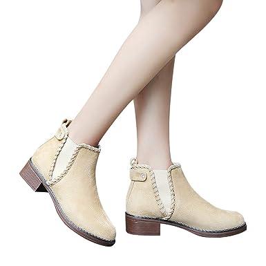 7c695289092833 Stiefel Damen ABsoar Ankle High Heels Booties Solid Color Wedges Schuhe  Martain Stiefel Wildleder Kurze Stiefel