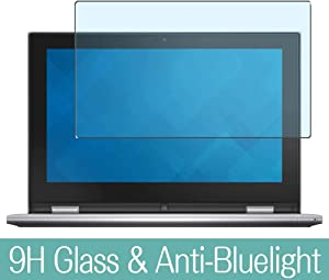 """Synvy Anti Blue Light Tempered Glass Screen Protector for Dell Inspiron 11 3000 (3157) 2-in-1 11.6"""" Visible Area 9H Protective Screen Film Protectors"""
