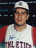 JOE AZCUE KANSAS CITY A'S ACTION SIGNED 8x10 - Autographed MLB Photos