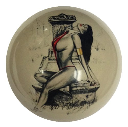 (Red Bikini Tombstone Pin-Up Girl Cue Ball Custom for Pool Players by D&L Billiards)