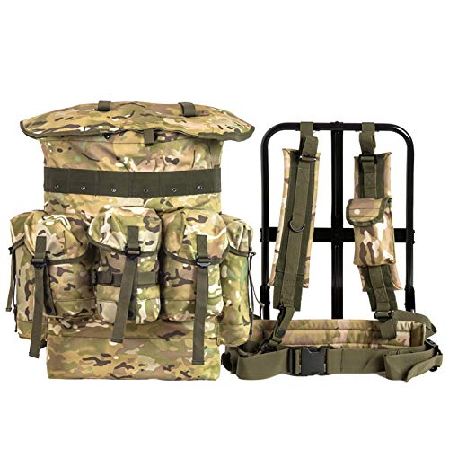 - Military Alice Pack Army Survival Combat Field Rucksack A.L.I.C.E. Backpack 1000D Nylon Multicam