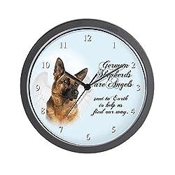 CafePress German Shepherd Angel Unique Decorative 10 Wall Clock