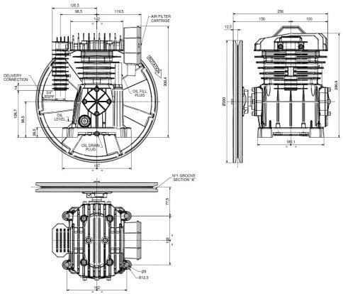 2 Zylinder Aggregat PAT 24-A 10 bar 400 Volt