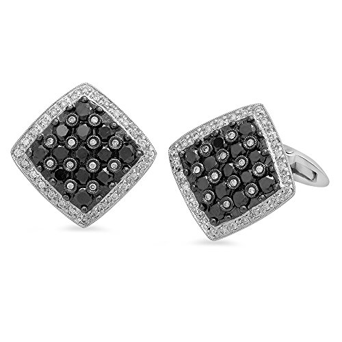 - 18k Gold 2.5CTW Diamond Cuff Links, (SI1-SI2/G-H)