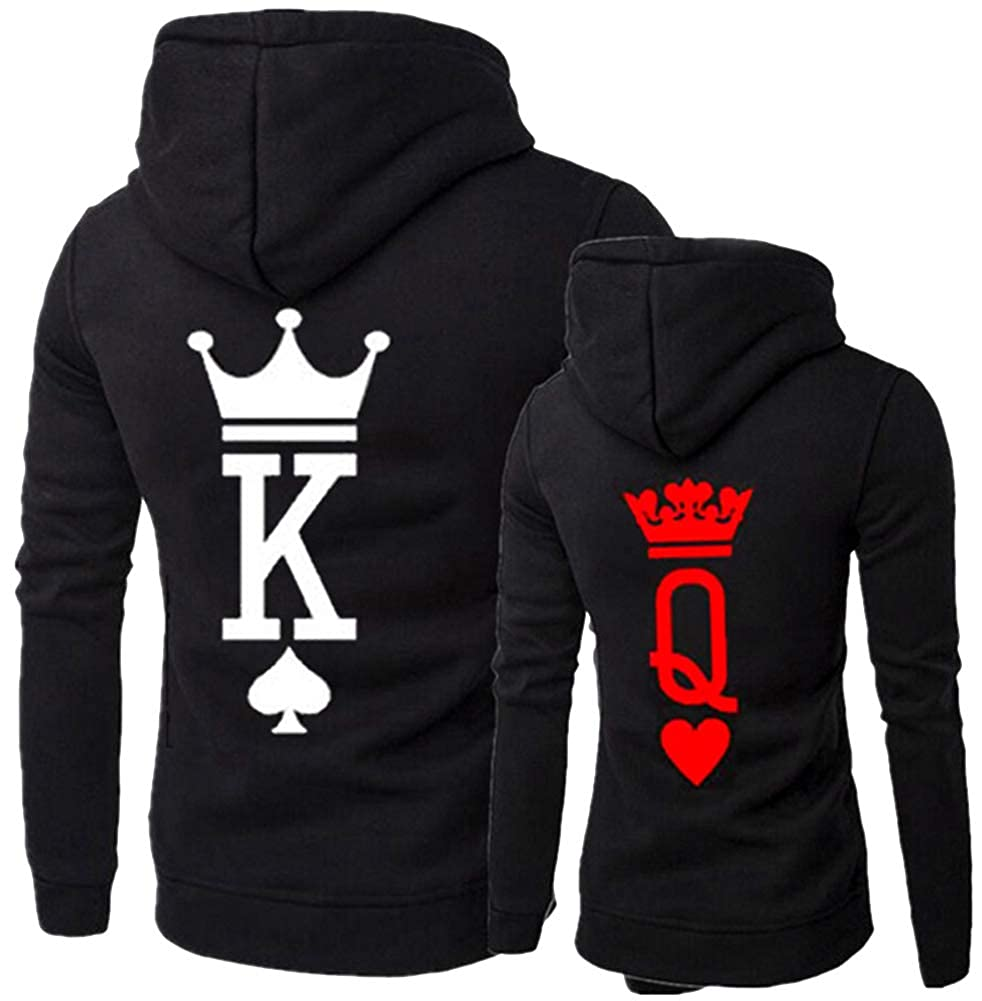MissBloom King & Queen Matching Couple Hoodie His & Hers Hoodies, 1 PC