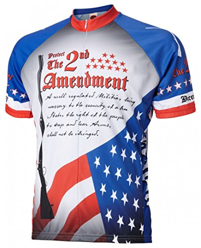 2nd Jersey - World Jerseys Men's 2nd Amendment Cycling Jersey (XX-Large)