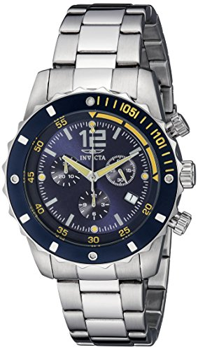 Stainless Steel Chronograph Blue Dial (Invicta Men's 1246 II Collection Chronograph Blue Dial Stainless Steel Watch)