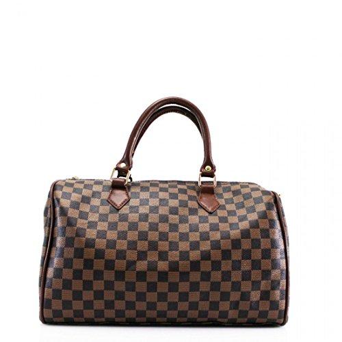 Checkered Brown Bag - 3