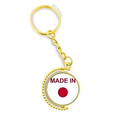 Amazon.com: Llavero de metal hecho en Japón, llavero dorado ...