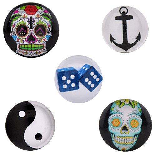 Morella click-button ® femme lot de 5 boutons pression pour porte-bonheur