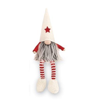 mud pie christmas home decor felt dangle leg gnome sitter white - Amazon Christmas Home Decor