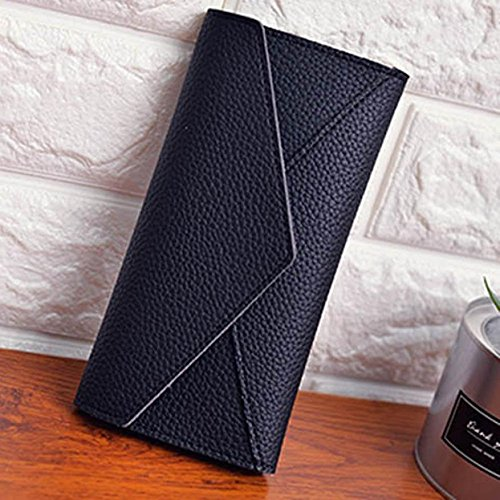 shipping Women Wallet Daily Use Clutches Solid PU Leather Good Quality Clutch Purse Fashion Bag 28S774 (Yves Saint Laurent Chocolate)