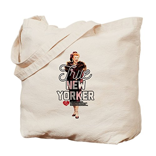 (CafePress Lucy True New Yorker Natural Canvas Tote Bag, Cloth Shopping Bag)