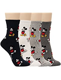 Disney Pixar Character Women Crew Socks For Girl Boy Teenagers Cotton