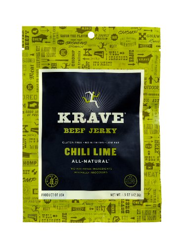 Krave Beef Jerky, Chili Lime, 1.5 Ounce (Pack of 18) (Chili Lime Crackers compare prices)