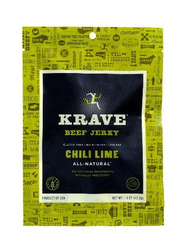 KRAVE Jerky Beef Jerky, Chili Lime, 1.5 Ounce