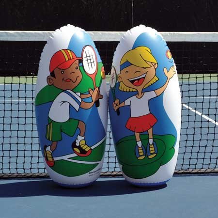 (OnCourt OffCourt Mini Tennis Knockdown Targets - Set of 2 Tennis Figures/Extremely Durable / 3 Feet Tall)
