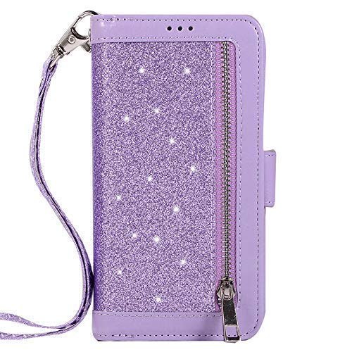 Jennyfly Galaxy Note 10 Case, Women Fashion Wallet-Style PU Leather Hand Free Stand Purse Case with Hand Strap Multi-Slots Pocket Protective Phone Case for 2019 6.3 inch Galaxy Note 10 - Purple by Jennyfly