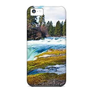 lintao diy High Quality Shock Absorbing Case For Iphone 5c-gorgeous Waterfall