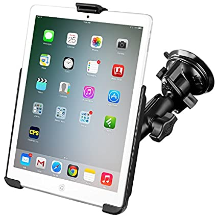 cabc1776cd5 Amazon.com  RAM Compatible with APPLE Mount Suction Cup Mount w Apple iPad  mini EZ-ROLL R Cradle  Automotive